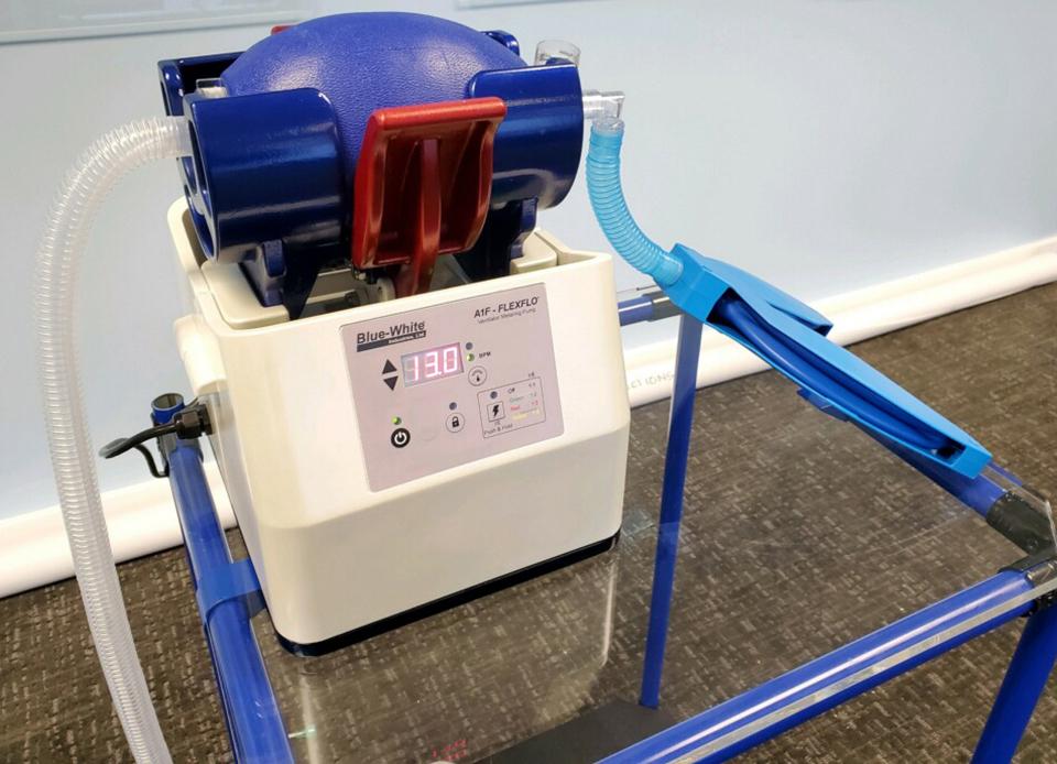A shot of Blue-White's ventilator.