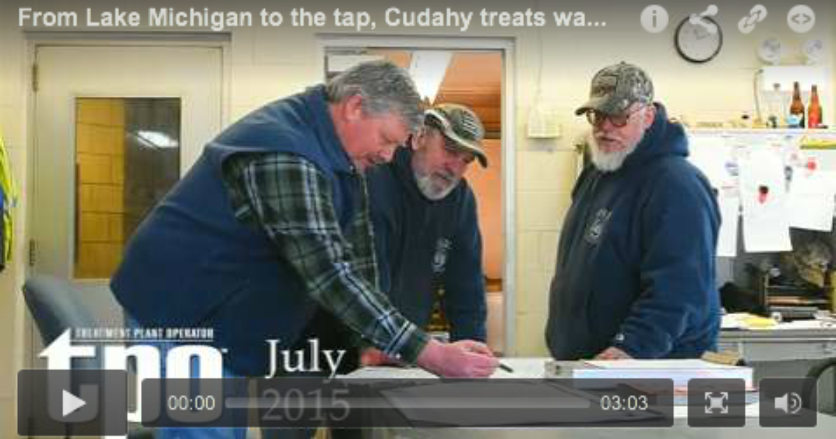 From Lake Michigan to the tap, Cudahy…   Treatment Plant