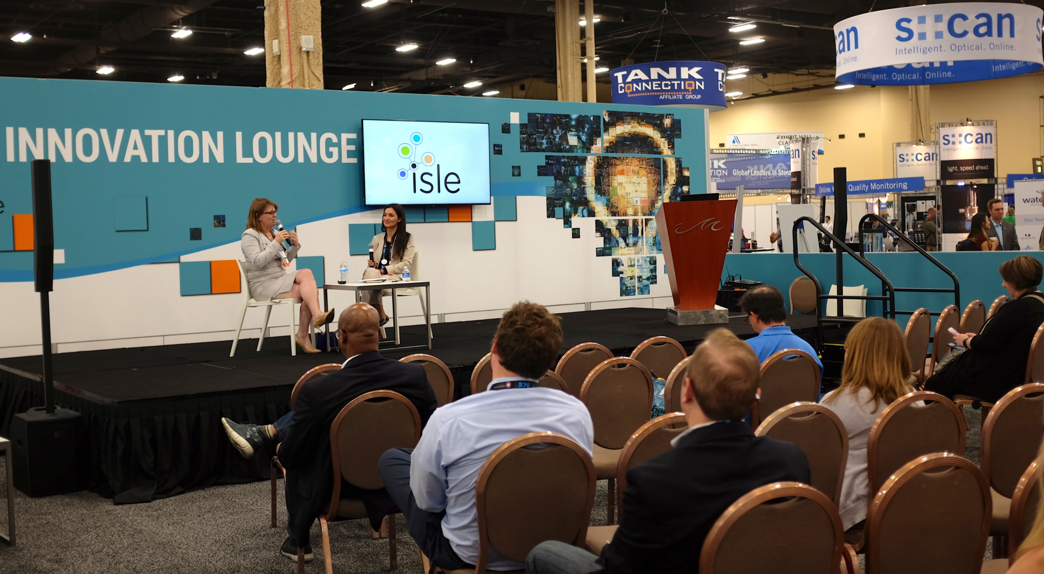 The Innovation Lounge at ACE18 was a hot spot for informative presentations and sharing ideas in the water sector