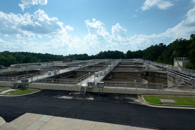 An overview of the North Cary Water Reclamation Facility.