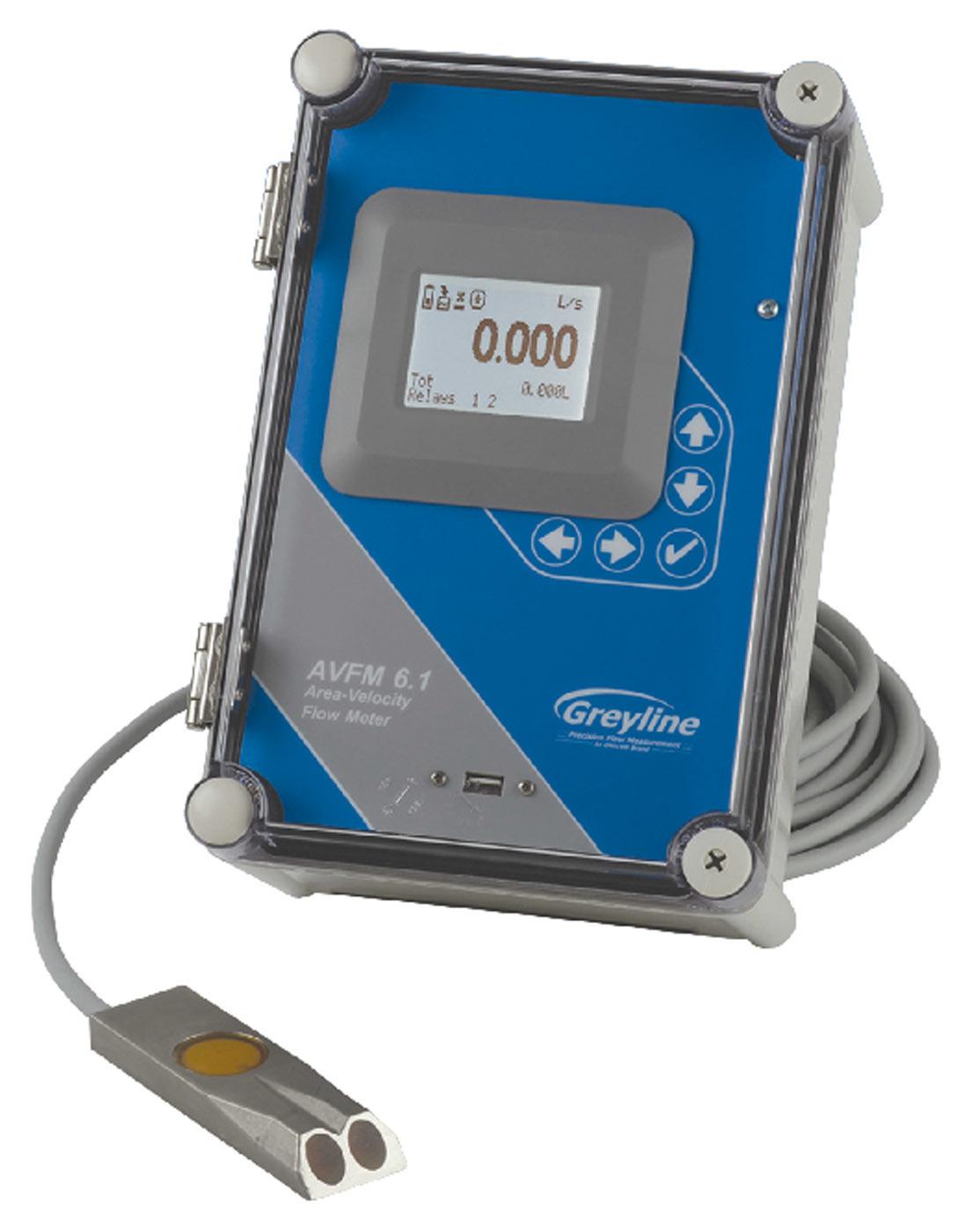 AVFM 6.1 area-velocity flowmeter from Greyline Instruments