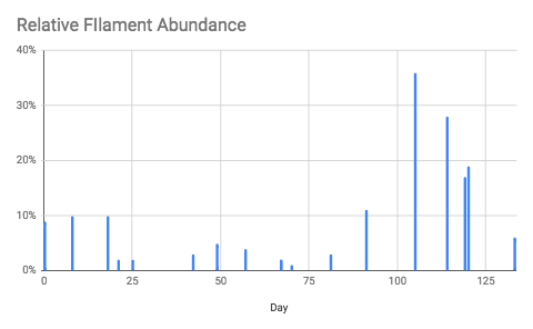 Tracking filament abundance can provide early warning for bulking events, allowing operators to take corrective action before bulking impacts unit performance.