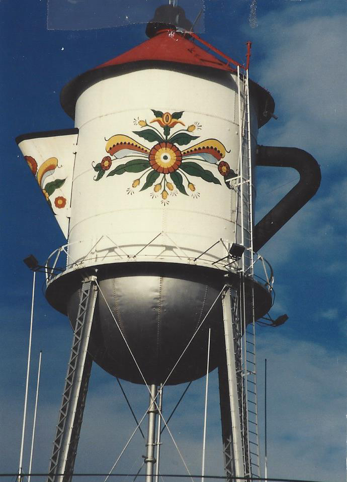 The World's Largest Coffee Pot in Stanton, Iowa