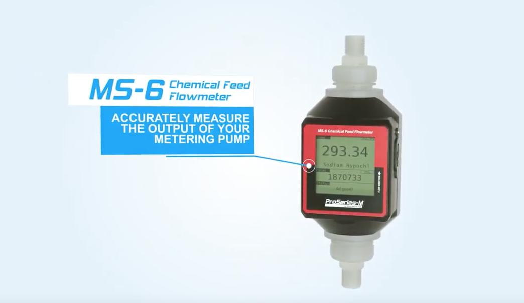 video MS 6 chemical feed flowmeter